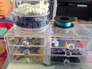 drawers containing beads for evolution creations