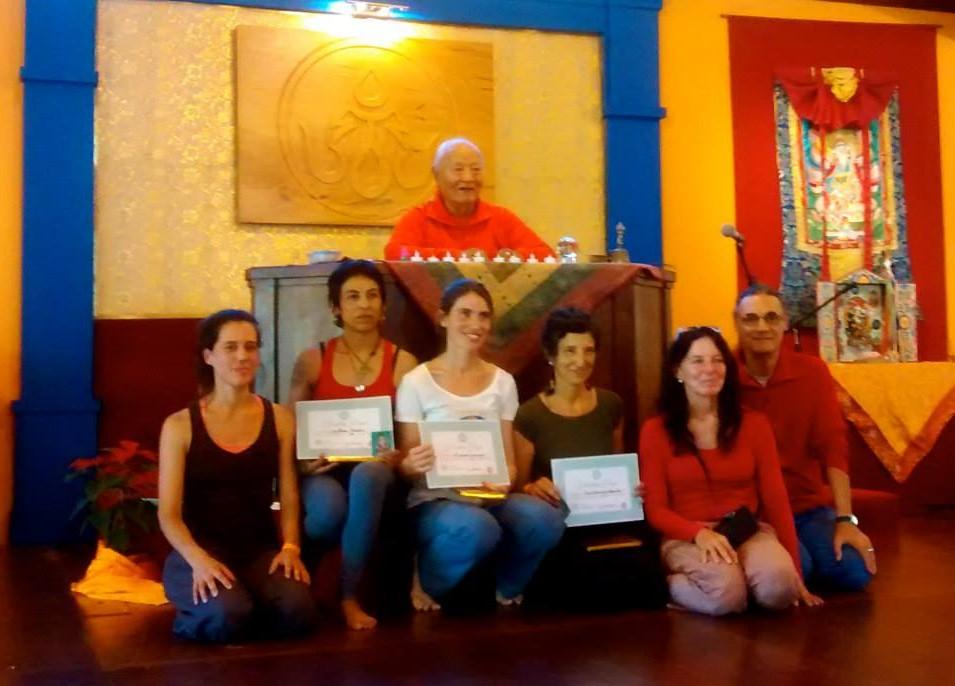 Недавно авторизованные инструктора по янтра-йоге первого уровня