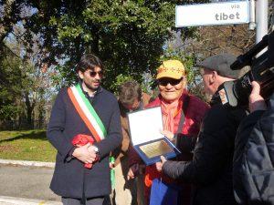 Открыта улица Тибет в Арчидоссо