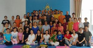 Восемь движений, тренинг для инструкторов в Самтенгаре, Китай