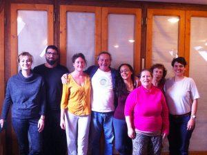 Окончание курса тибетского массажа Кунье в Кармалинге, Франция