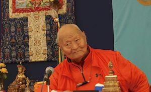 Поздравление Ринпоче с днём рождения 8 декабря 2017 года в Дзамлинг Гаре
