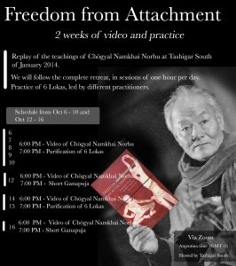 Свобода от привязанности: онлайн-практики из Южного Ташигара